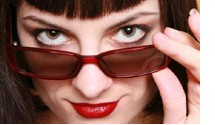 hiding under eye circles behind sunglasses